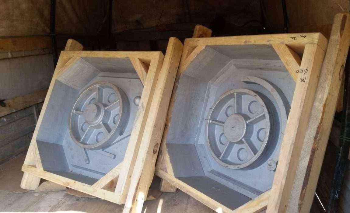 Модельные ящики для формовки по технологии ХТС для колеса ротомашины