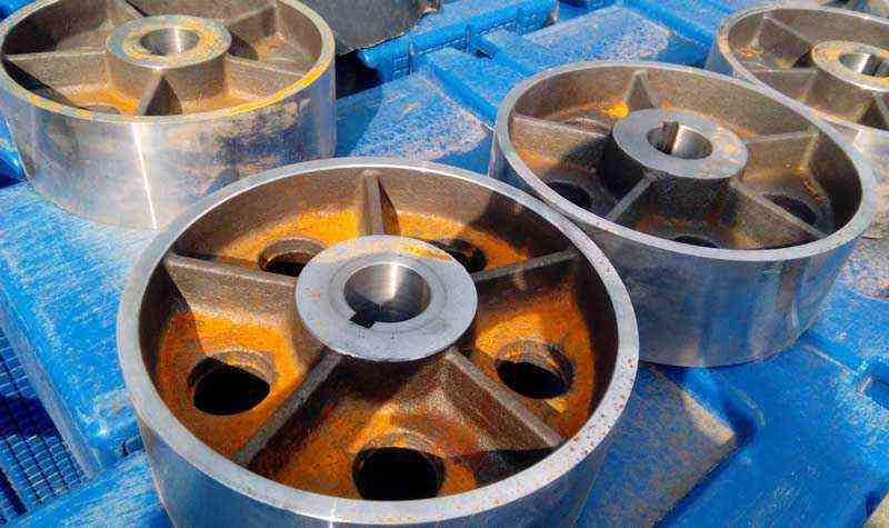 Отливки колес ротомашины после механической обработки