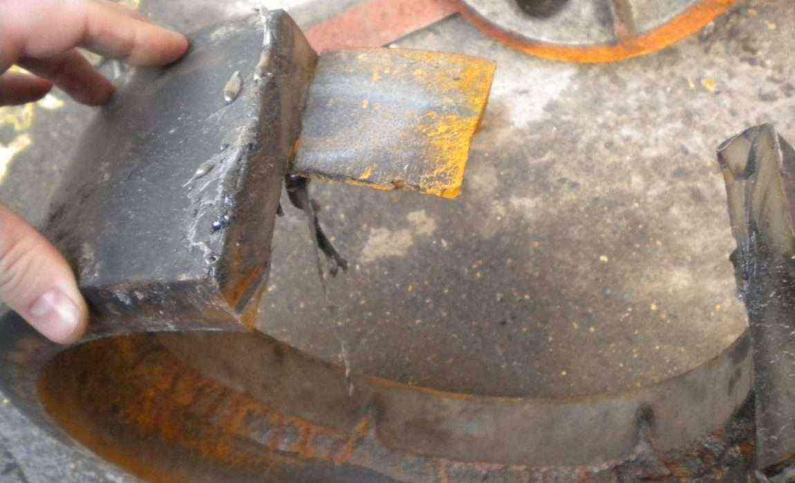 Полиуретановое покрытие старого колеса ротомашины